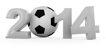 Soccer world cup in 2014 Stock Image