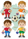 Soccer World Cup B. Small mascots of the World Cup 2014 Stock Illustration