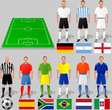 Soccer world cup, basket 1. Teams around the world, the first group of commands Stock Photo