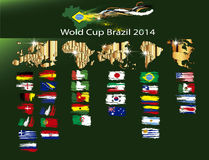 Soccer world cup Brazil 2014 Royalty Free Stock Image