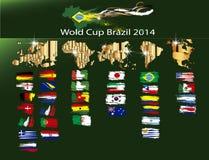 Soccer world cup Brazil 2014 stock illustration
