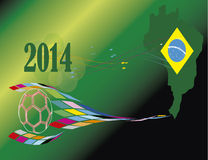 Soccer world cup Brazil 2014 countrys Stock Photos