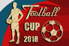 Soccer World Cup. Concept of Football 2018 Russia. World football Championship. Vector graphics to design Royalty Free Stock Image
