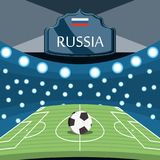 Soccer World Cup Russia design royalty free illustration