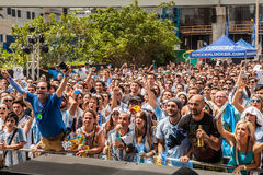 Soccer World Cup 2014 Final Argentina vs Alemanha Stock Photos