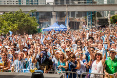 Soccer World Cup 2014 Final Argentina vs Alemanha Stock Images