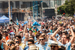 Soccer World Cup 2014 Final Argentina vs Alemanha Royalty Free Stock Photo
