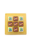 Soccer world cup pralines Stock Photo