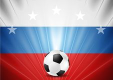 Soccer World Cup 2018 in Russia abstract background. Football vector design Stock Image