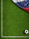 Soccer world cup Russia 2018 background 3d illustration Royalty Free Stock Photo