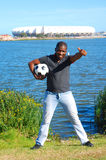 Africa soccer fan Stock Image