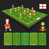 Soccer world cup team presentation Royalty Free Stock Image