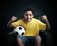 Soccer World Cup on Tv Stock Photo