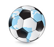 Soccer world map ball illustration design. Over a white background Royalty Free Stock Photo