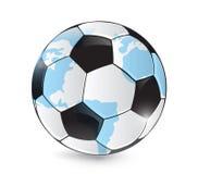Soccer world map ball illustration design Royalty Free Stock Photo