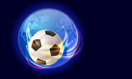 Soccer world. Vector global concept soccer illustration,eps10 , gradient mesh and transparency used Stock Image