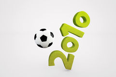 Soccer Year. 3D illustration, soccer events in 2010 stock illustration