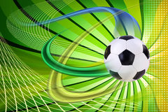 Soccer zoom Royalty Free Stock Images
