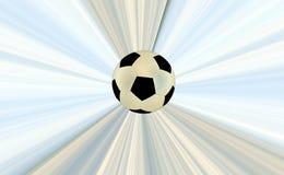 Soccerball über abstraktem Hintergrund Stockfotografie