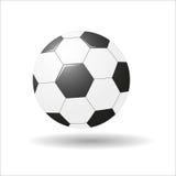Soccerball 得出花卉草向量的背景 库存照片