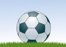 Soccerball 2. Soccer ball lies at the grass Royalty Free Stock Image