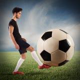 大soccerball 免版税库存图片