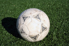 Soccerball. A soccer ball on turf Stock Photography