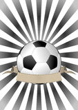 Soccerball banner Stock Photos