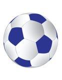 Soccerball bleu et blanc Photographie stock