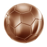 Soccerball in bronze Royalty Free Stock Photo