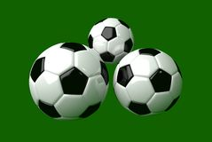 Soccerball 3d modeling Stock Images