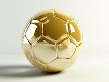 Soccerball dorato Fotografie Stock