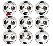 Soccerball face Royalty Free Stock Image