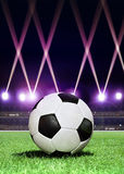 Soccerball in festive lighting Stock Photography