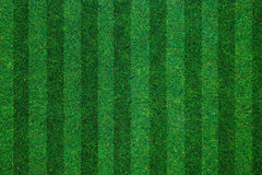 Soccerball field green grass background. Flat lay Royalty Free Stock Images