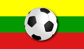 Soccerball with Flag. Flag with Soccer Ball in the Front. Vector stock illustration