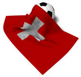Soccerball and flag of switzerland Royalty Free Stock Photos