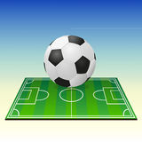 Soccerball on a football field Stock Photography