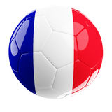 Soccerball of france. 3d soccer france ball illustration Royalty Free Stock Photography