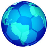 Soccerball globe Stock Photos