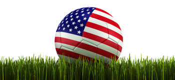 Soccerball in grass Stock Photo