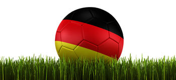 Soccerball in grass Stock Photography