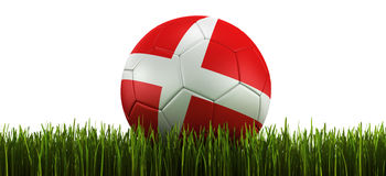 Soccerball in grass Stock Photos