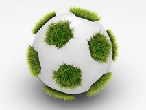 Soccerball with grass Royalty Free Stock Images