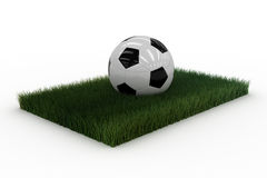 Soccerball on lawn Royalty Free Stock Photo