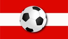 Soccerball met Vlag royalty-vrije stock fotografie