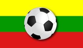 Soccerball met Vlag royalty-vrije stock foto