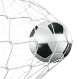 Soccerball in net stock illustration