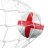 Soccerball in net Stock Images