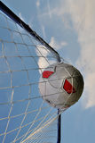 Soccerball in net Royalty Free Stock Images